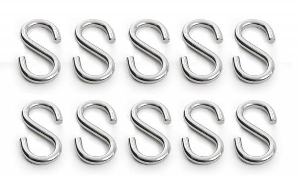 10 Stück S-Haken Edelstahl Durchmesser 3 mm