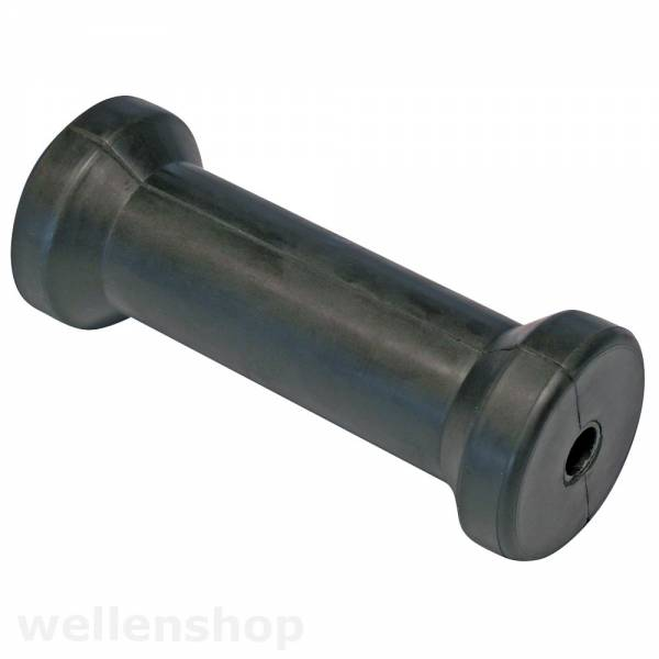 Mittelrolle Kielrolle 100 mm Gummi Bild 1