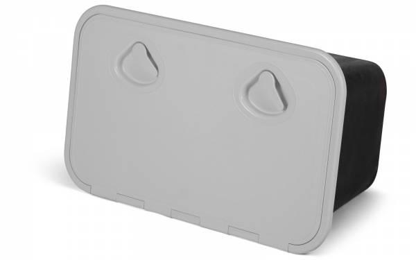 Aufbewahrungsbox Ablagefach mit Klappe 355 x 600 mm Weiß / Schwarz Bild 1