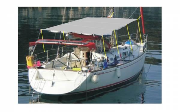Sonnensegel für Boote JOS 350 x 490 cm Blau Bild 1