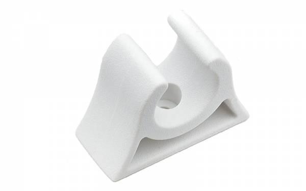 Bootshakenhalter 25 - 26 mm Weiß Bild 1