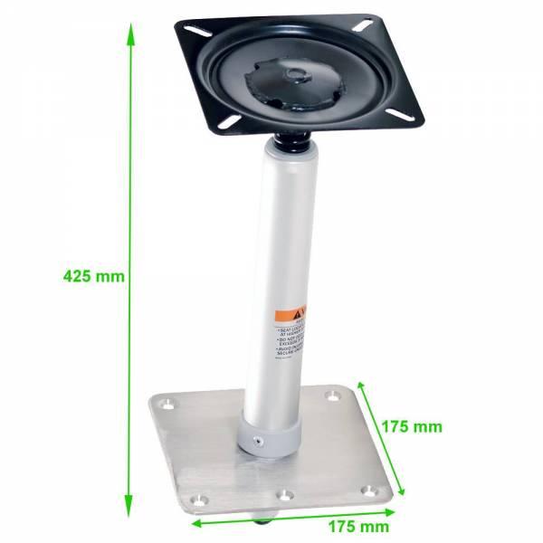 Sockelfuß Pedestal für Bootssitz Höhe: 425 mm mit Federdämpfung 360 Grad drehbar Bild 2