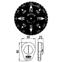 Riviera Kompass Handkompass Peilkompass Grau Kunststoff schwimmfähig Bild 2