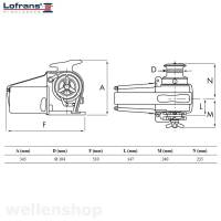 Lofrans Ankerwinde Falkon Ø10mm ISO Kette mit Spill 1700W 24V bild 3