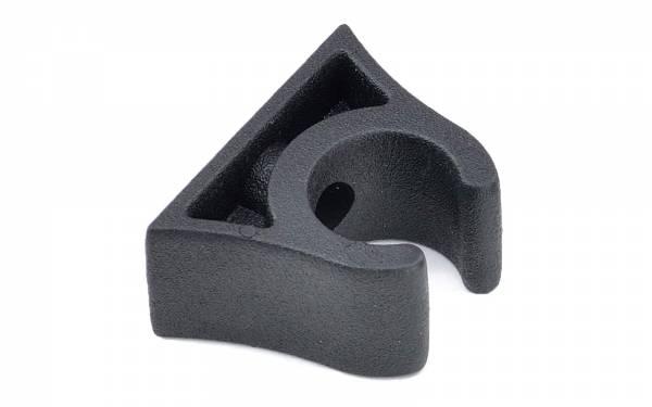 Bootshakenhalter 25 - 26 mm Schwarz Bild 1