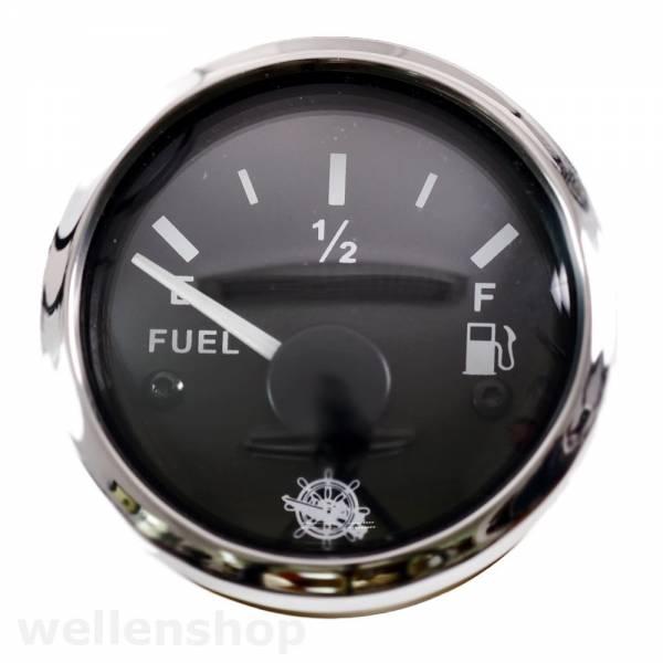 12V 24V Tankuhr Kraftstoffanzeige 240 - 33 Ohm Schwarz Bild 1