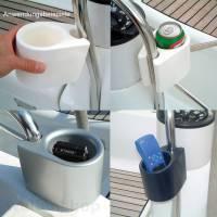 ocean Clip-on CAN HOLDER Schaumstoff Dosenhalter Getränkehalter Weiß