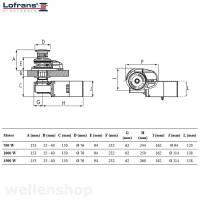 Lofrans X2 Ankerwinde vertikal Aluminium Ø 8mm Kette mit Spill 700 W 12 V bild 3