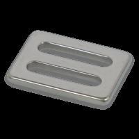 Gurtschnalle 25 x 3 mm Edelstahl
