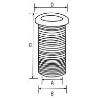 Durchführung Kabeldurchlass 65 mm Schwarz Bild 2