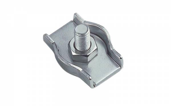 10 Stück Simplex Drahtseilklemme M5 für 5 mm Seil Edelstahl Bild 1