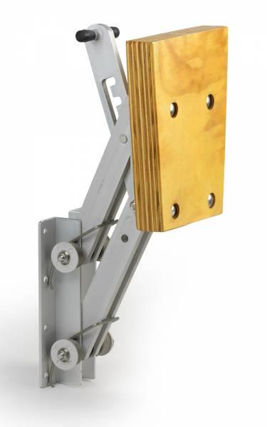 Motorhalter bis 7 PS in 4 Positionen fixierbar Aluminium / Edelstahl / Holz Bild 1
