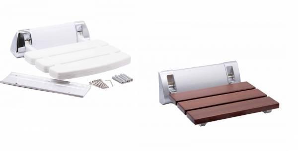 Klappbarer Sitz Weiß oder Holz