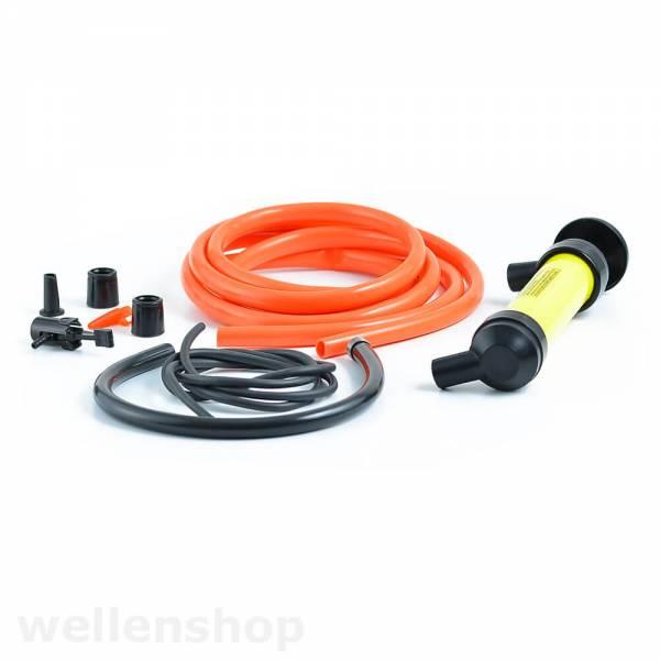 Mult-Funktions-Pumpe 10-teilig Kunststoff mit Adapter Schläuche Aufsatz Bild 1