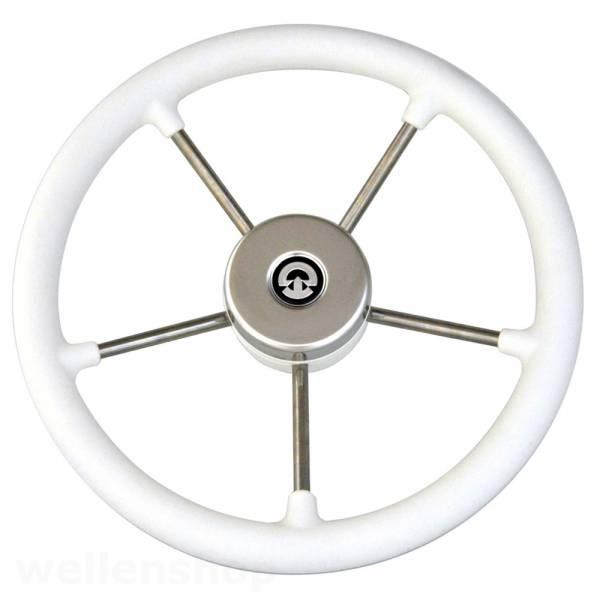 Steuerrad / Bootslenkrad 5 Speichen Edelstahl Kunststoff Weiß ∅ 325 mm Bild 1