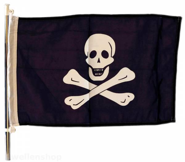 Flagge Pirat 30 x 45 cm Polyester UV-beständig Bild 1