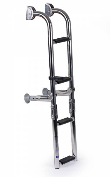 Bootsleiter / Badeleiter 4 Stufen klappbar Edelstahl Bild 1