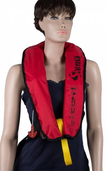 Lalizas Rettungsweste Sigma 170N manuelle & automatische Auslösung ab 40kg rot Bild 1