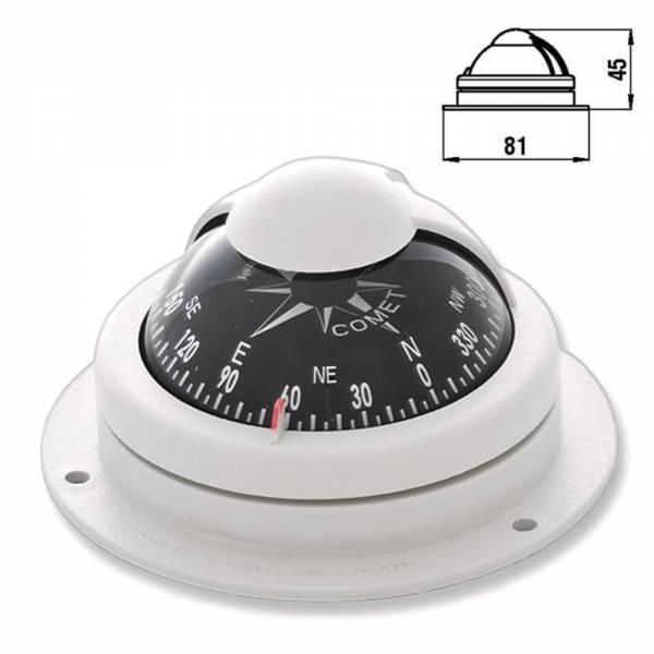 Kompass Aufbaukompass mit Sockelfuß Grau Bootskompass bild 1