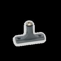 Persenninghalter, Grau, 60 x 20 x 36 mm, mit Kreuzschraube