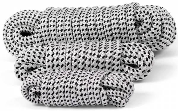 Festmacher-Seil Schwarz / Weiß Polyester 10 mm 6m / 12 mm 8 m / 14 mm 14 m Bild 1