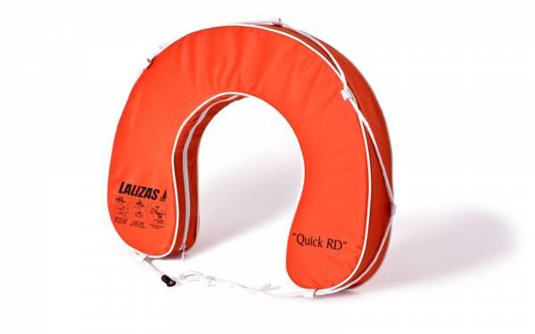 Hufeisen-Rettungsring mit Griffleine Auftrieb 145N Polyester orange Bild 1