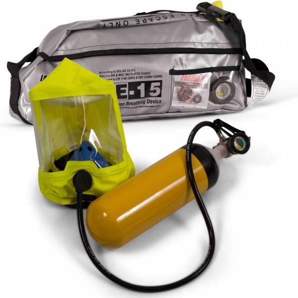 Atemluftgerät Escape-15 für Notfall-Evakuierung Tragbar mit Tasche Bild 1