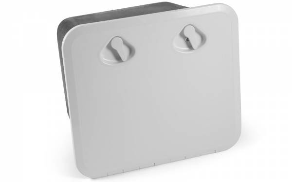 Aufbewahrungsbox MID LINE Ablagefach mit Klappe u. Schloss 380 x 380 mm Weiß Schwarz Bild 1
