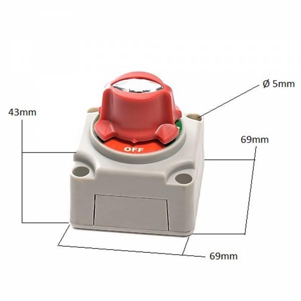Batterie-Umschalter 6 - 48 V 250 A Aufbaumontage bild 1