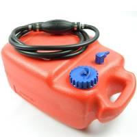 Benzintank 12 Liter + Benzinschlauch 2m mit Pumpball