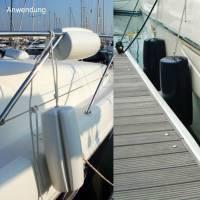 Ocean Relingfender Clip-On Bootsfender Modell A4 60 cm Weiß Bild 5