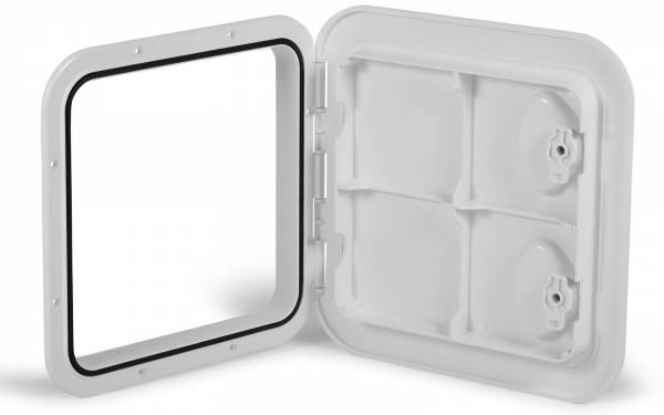 Inspektionsluke Inspektionsklappe Boot KROME 370 x 375 mm Weiß Bild 1