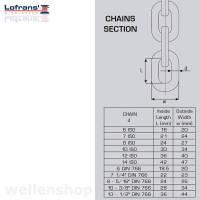 Lofrans Kettennuss DIN 766 10 mm X3 | PROJECT 1500 Bild 2