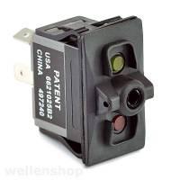 12V LED Kippschalter ON - OFF mit Schaltersymbol Lüfter