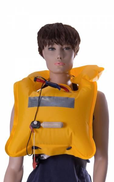 Lalizas Rettungsweste 110N manuelle Auslösung ab 40kg gelb bild1