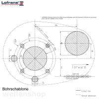 Lofrans X2 Ankerwinde Ø10mm Kette ohne Spill Bronze verchromt 1000W 12V bild 4