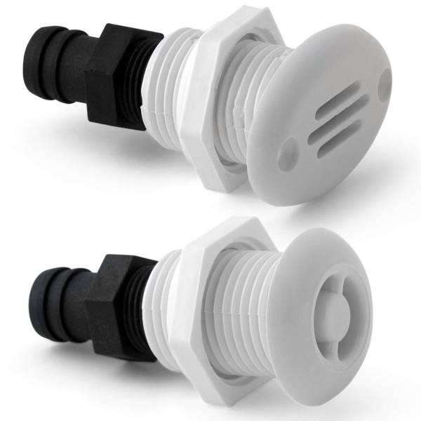 Tankentfüfter für 16 mm Schlauch Kunststoff Weiß Rund Oval Bild 1