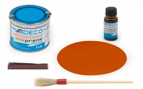 Schlauchboot-Reparatur-Set mit 2-K-Kleber für Neopren + Flicken Orange Bild 1