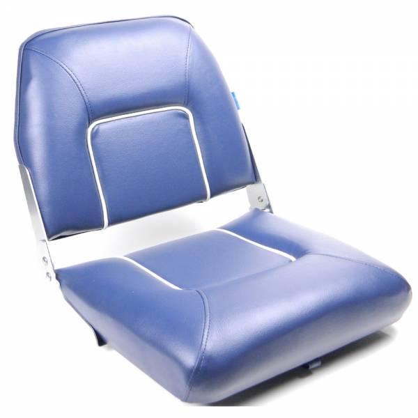 Bootssitz Steuerstuhl klappbar Kunstleder blau gepolstert Bild 1