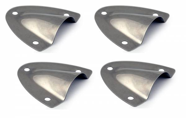 4 Stück Lüftungsblech, Lüfterhaube 57 x 54 x 16 mm, Edelstahl