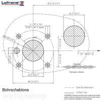 Lofrans X1 Ankerwinde vertikal Ø 6 mm Kette ohne Spill Bronze verchromt 500W 12V bild 4