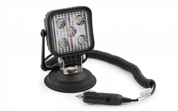 Arbeitsscheinwerfer 5 LED auf Magnetfuß 2 m Spiralkabel 12 V Stecker Bild 10