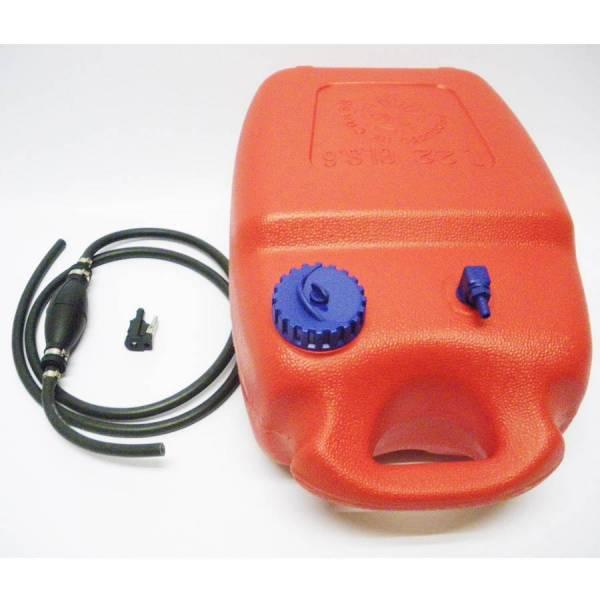 Benzintank 12 Liter + Pumpball + Anschluss Buchse Johnson Evinrude Motor Tank Zusatztank Bild 1