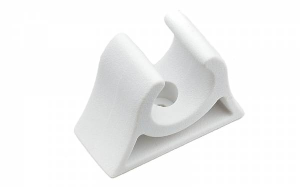 Bootshakenhalter 19 - 20 mm Weiß Bild 1
