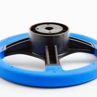 Steuerrad / Bootslenkrad 3 Speichen Ø 280 mm Kunststoff Blau Bild 2