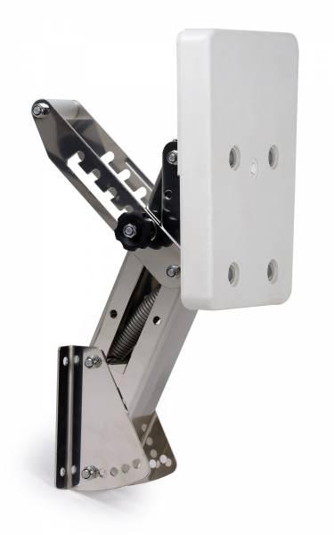 Motorhalter bis 7 PS in 5 Positionen verstellbar Edelstahl / Kunststoff weiß Bild 1