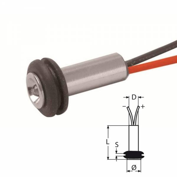 Einbauspot LED 8 bis15 Volt 0.33 W Edelstahl bild 1
