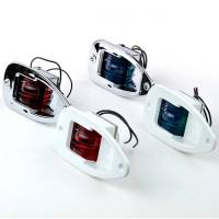 LED Backbord Einbau Positionsleuchte Kunststoff Weiß Leuchtfarbe Rot