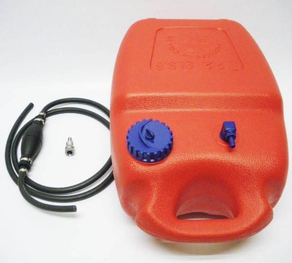 Benzintank 12 Liter + Pumpball + Stecker Anschluss Tohatsu Nissan Motor Tank Zusatztank Bild 1