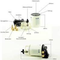 Boot Treibstofffilter Benzinfilter mit Wasserabscheider Bild 2